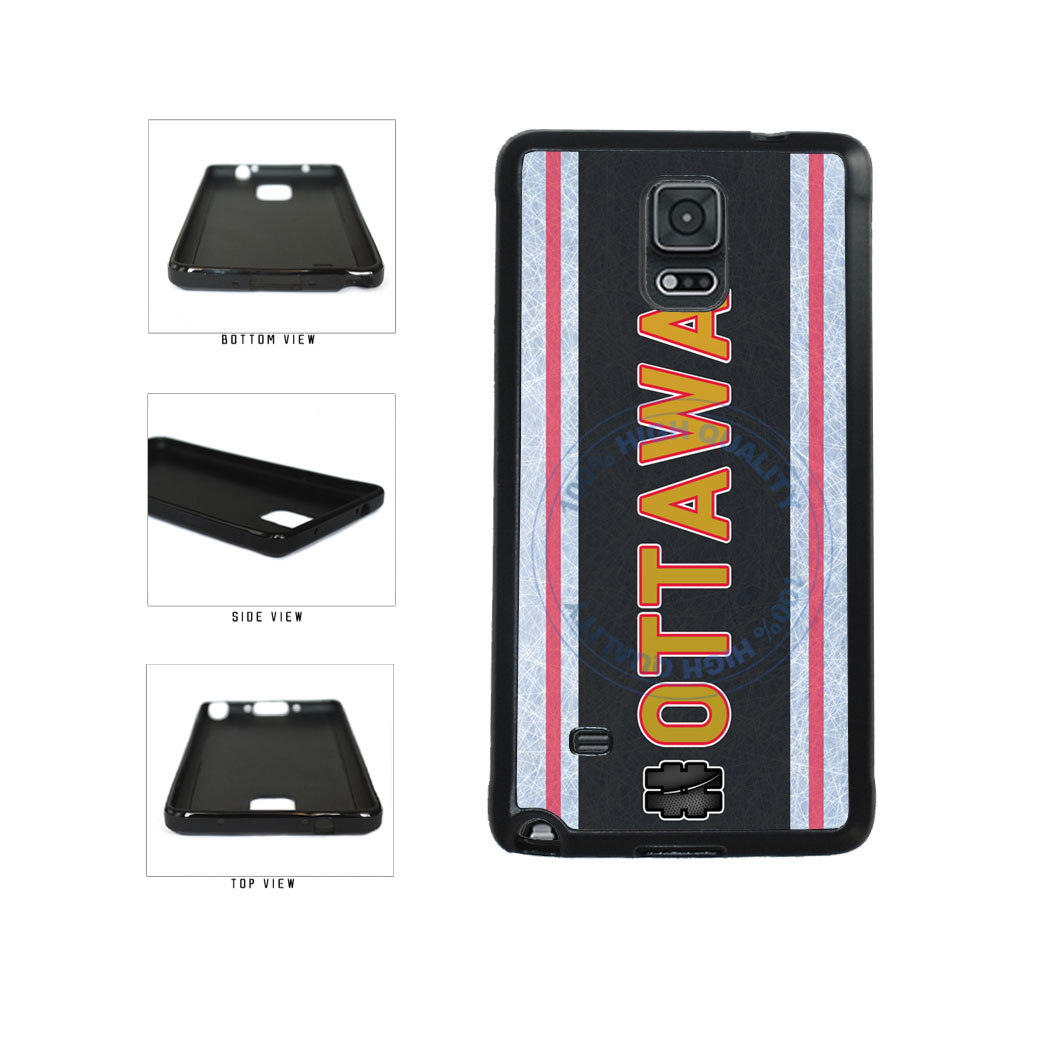 Hockey Team Hashtag Ottawa #Ottawa TPU Rubber SILICONE Phone Case Back Cover For Samsung Galaxy Note IV 4 N910 includes BleuReign(TM) Cloth and Warranty Label