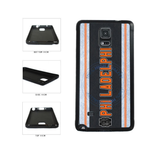 Hockey Team Hashtag Philadelphia #Philadelphia TPU Rubber SILICONE Phone Case Back Cover For Samsung Galaxy Note IV 4 N910 includes BleuReign(TM) Cloth and Warranty Label
