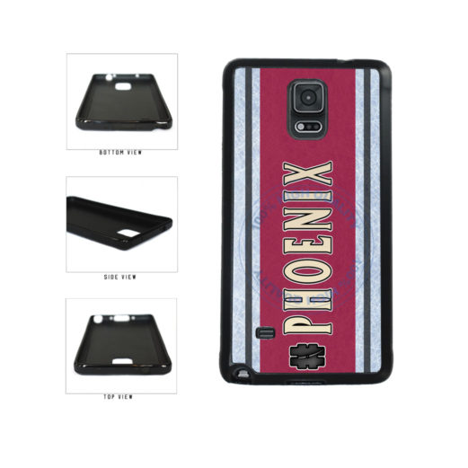 Hockey Team Hashtag Phoenix #Phoenix TPU Rubber SILICONE Phone Case Back Cover For Samsung Galaxy Note IV 4 N910 includes BleuReign(TM) Cloth and Warranty Label