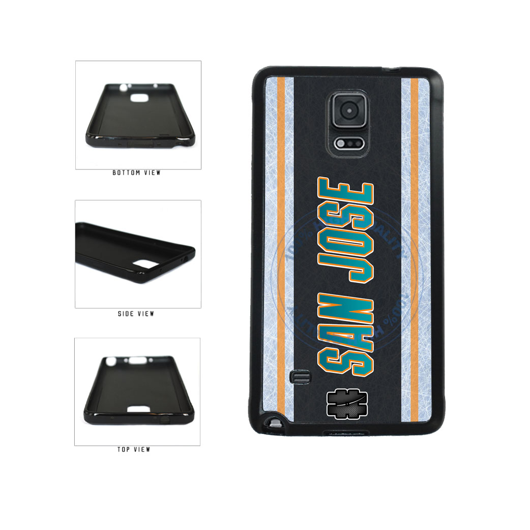 Hockey Team Hashtag San Jose #SanJose TPU Rubber SILICONE Phone Case Back Cover For Samsung Galaxy Note IV 4 N910 includes BleuReign(TM) Cloth and Warranty Label