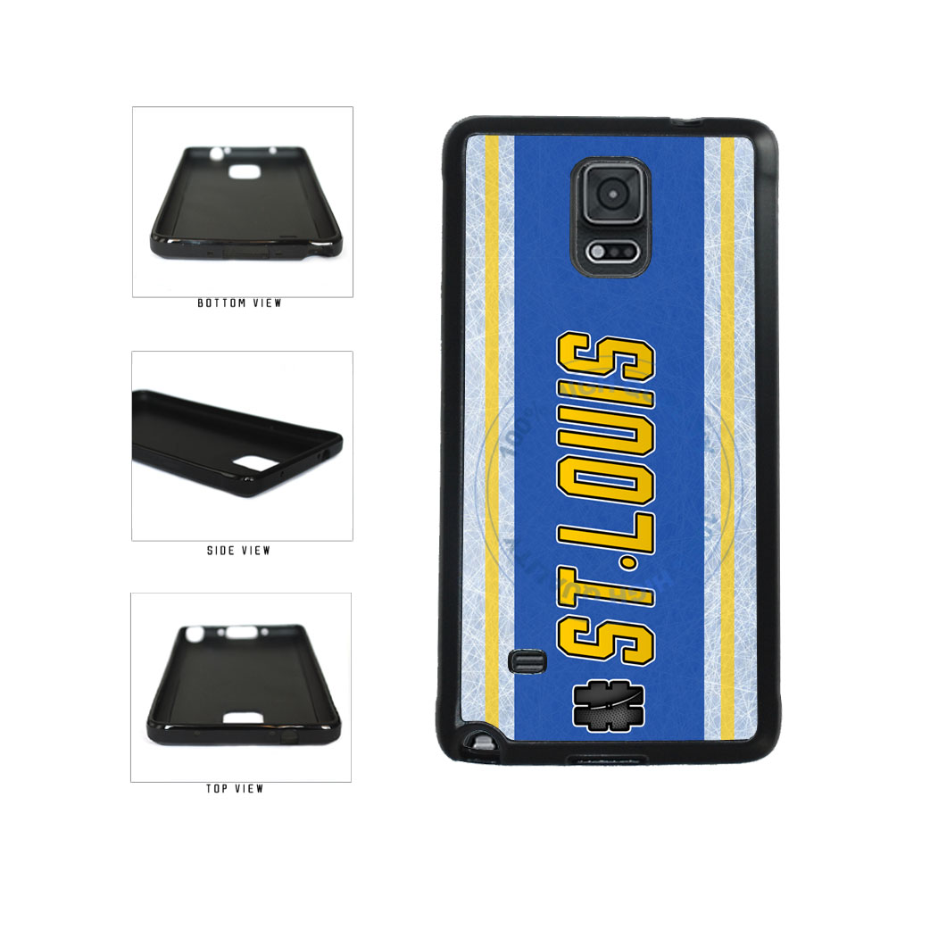 Hockey Team Hashtag St Louis #StLouis TPU Rubber SILICONE Phone Case Back Cover For Samsung Galaxy Note IV 4 N910 includes BleuReign(TM) Cloth and Warranty Label