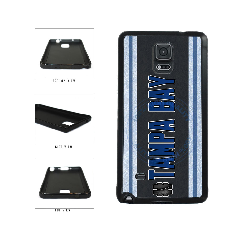 Hockey Team Hashtag Tampa Bay #TampaBay TPU Rubber SILICONE Phone Case Back Cover For Samsung Galaxy Note IV 4 N910 includes BleuReign(TM) Cloth and Warranty Label