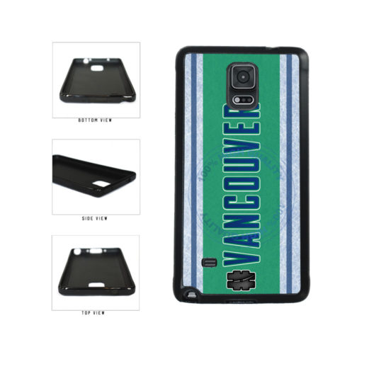 Hockey Team Hashtag Vancouver #Vancouver TPU Rubber SILICONE Phone Case Back Cover For Samsung Galaxy Note IV 4 N910 includes BleuReign(TM) Cloth and Warranty Label