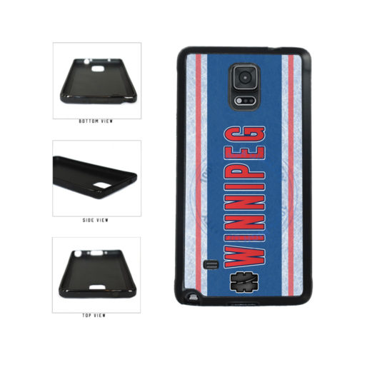 Hockey Team Hashtag Winnipeg #Winnipeg TPU Rubber SILICONE Phone Case Back Cover For Samsung Galaxy Note IV 4 N910 includes BleuReign(TM) Cloth and Warranty Label