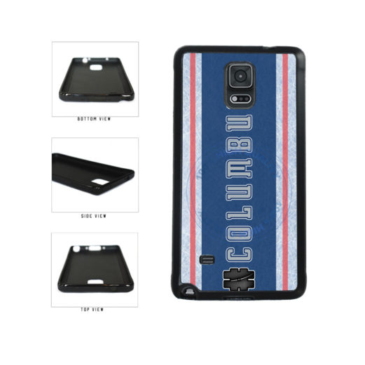 Hockey Team Hashtag Columbus #Columbus TPU Rubber SILICONE Phone Case Back Cover For Samsung Galaxy Note IV 4 N910 includes BleuReign(TM) Cloth and Warranty Label