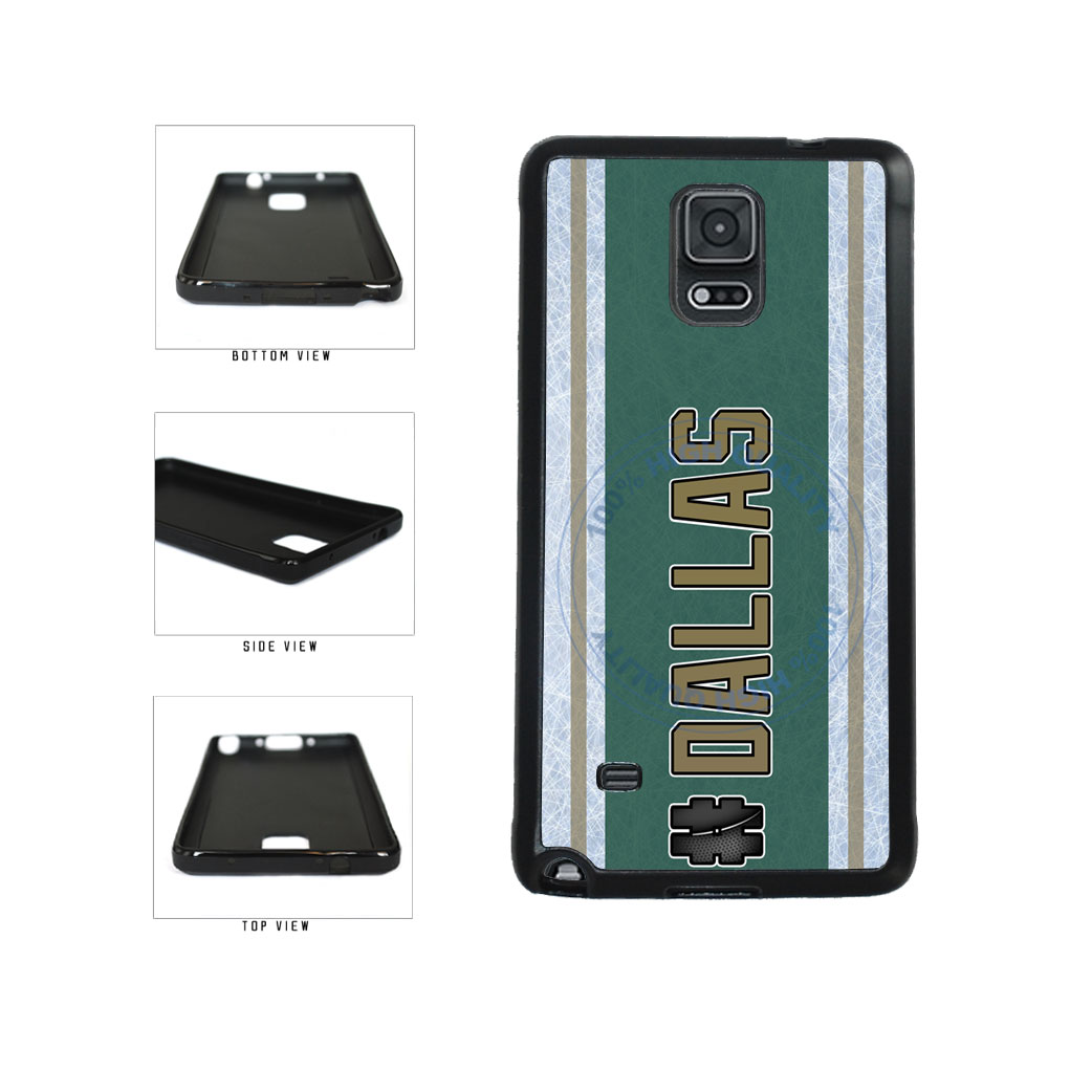 Hockey Team Hashtag Dallas #Dallas TPU Rubber SILICONE Phone Case Back Cover For Samsung Galaxy Note IV 4 N910 includes BleuReign(TM) Cloth and Warranty Label