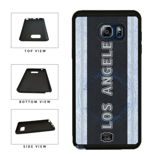 Hockey Team Hashtag Los Angeles #LosAngeles TPU RUBBER SILICONE Phone Case Back Cover For Samsung Galaxy Note V 5 N920 includes BleuReign(TM) Cloth and Warranty Label