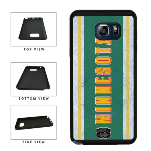 Hockey Team Hashtag Minnesota #Minnesota TPU RUBBER SILICONE Phone Case Back Cover For Samsung Galaxy Note V 5 N920 includes BleuReign(TM) Cloth and Warranty Label