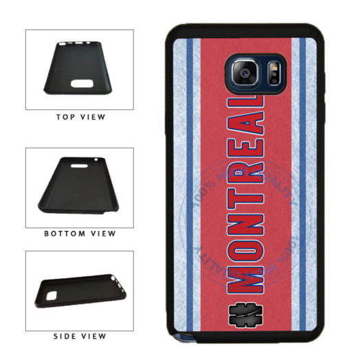 Hockey Team Hashtag Montreal #Montreal TPU RUBBER SILICONE Phone Case Back Cover For Samsung Galaxy Note V 5 N920 includes BleuReign(TM) Cloth and Warranty Label