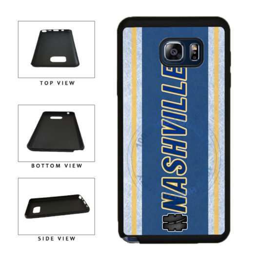 Hockey Team Hashtag Nashville #Nashville TPU RUBBER SILICONE Phone Case Back Cover For Samsung Galaxy Note V 5 N920 includes BleuReign(TM) Cloth and Warranty Label