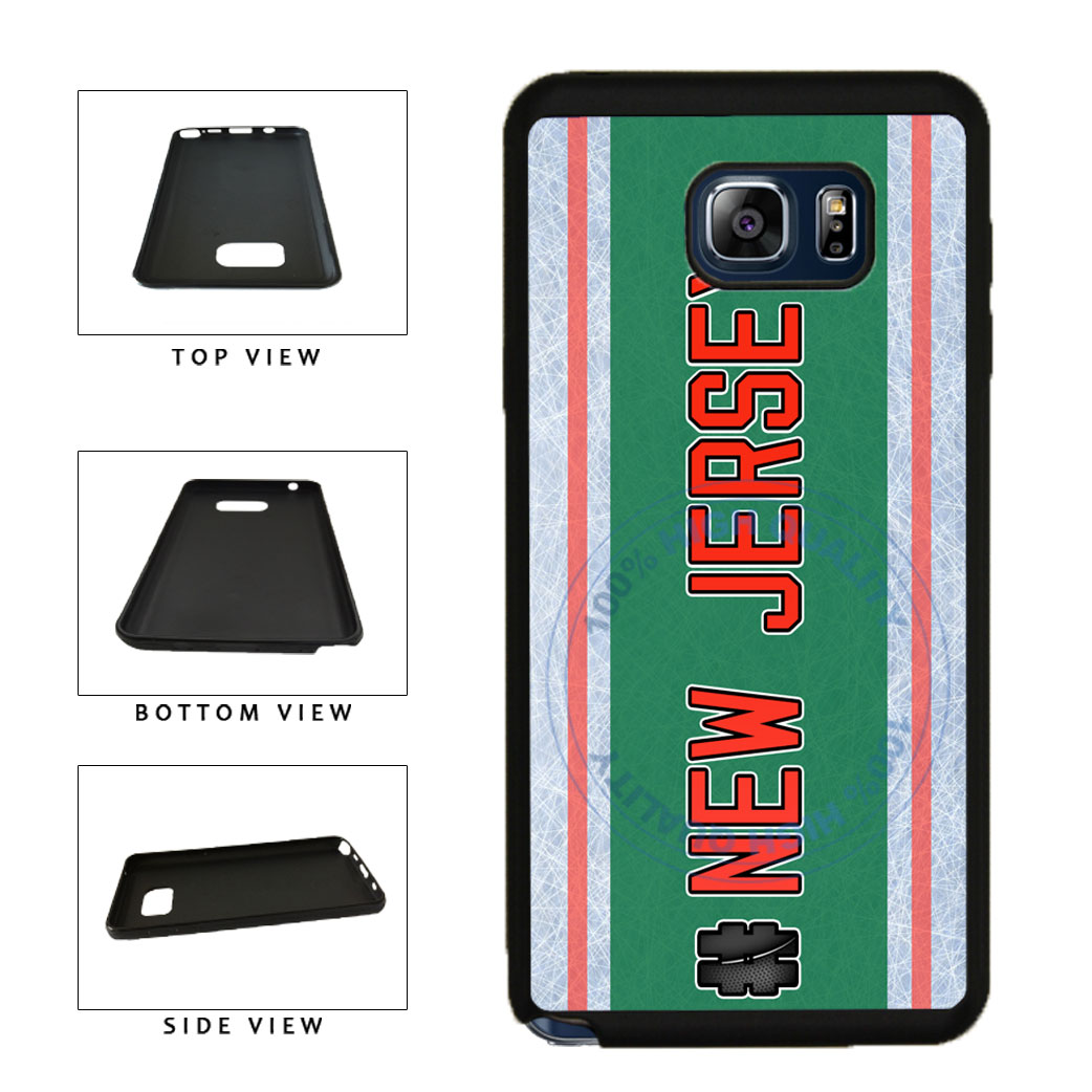 Hockey Team Hashtag New Jersey #NewJersey TPU RUBBER SILICONE Phone Case Back Cover For Samsung Galaxy Note V 5 N920 includes BleuReign(TM) Cloth and Warranty Label