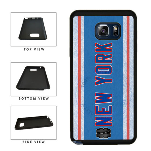 Hockey Team Hashtag New York Blue and Red #NewYork TPU RUBBER SILICONE Phone Case Back Cover For Samsung Galaxy Note V 5 N920 includes BleuReign(TM) Cloth and Warranty Label
