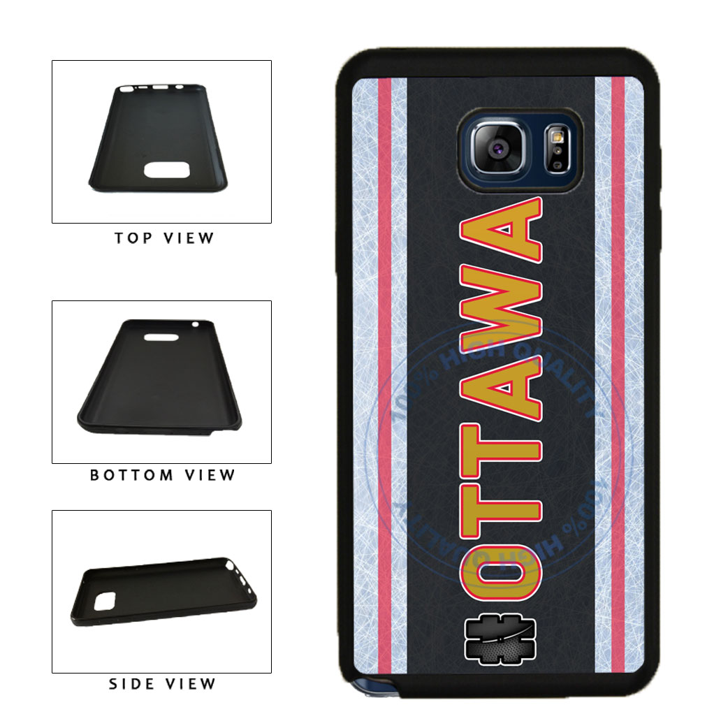 Hockey Team Hashtag Ottawa #Ottawa TPU RUBBER SILICONE Phone Case Back Cover For Samsung Galaxy Note V 5 N920 includes BleuReign(TM) Cloth and Warranty Label