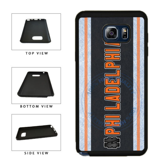Hockey Team Hashtag Philadelphia #Philadelphia TPU RUBBER SILICONE Phone Case Back Cover For Samsung Galaxy Note V 5 N920 includes BleuReign(TM) Cloth and Warranty Label