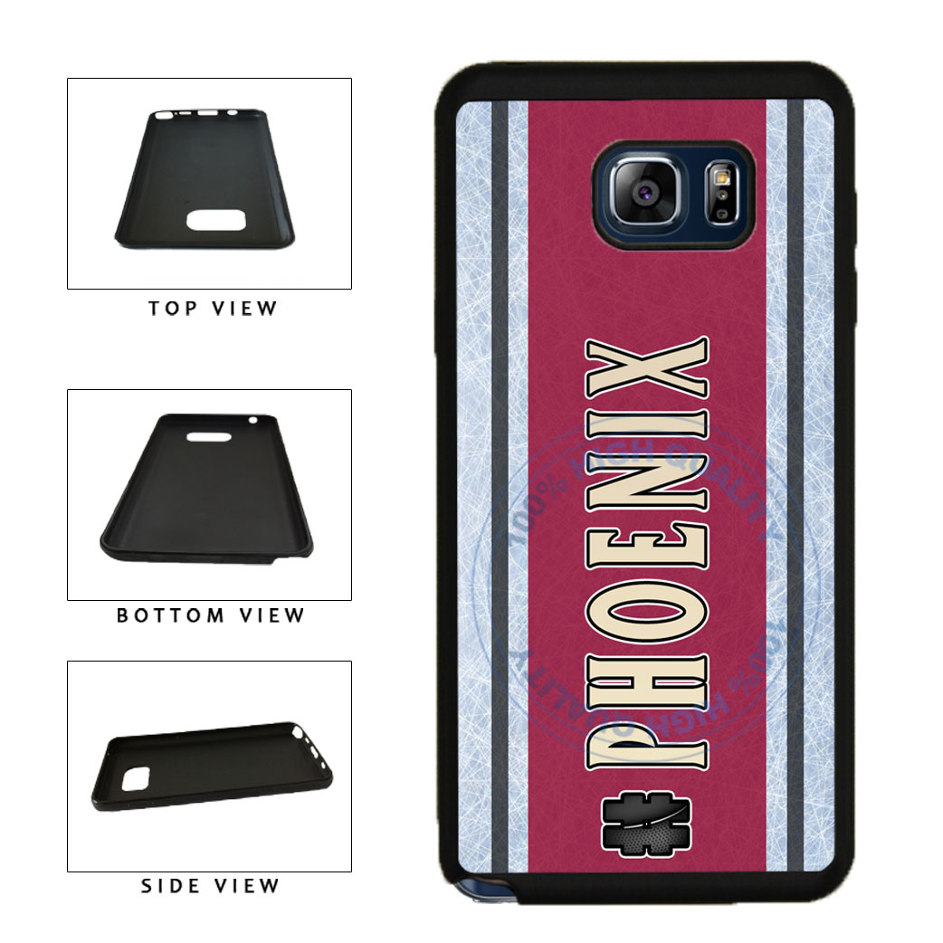 Hockey Team Hashtag Phoenix #Phoenix TPU RUBBER SILICONE Phone Case Back Cover For Samsung Galaxy Note V 5 N920 includes BleuReign(TM) Cloth and Warranty Label