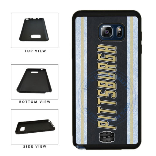 Hockey Team Hashtag Pittsburgh #Pittsburgh TPU RUBBER SILICONE Phone Case Back Cover For Samsung Galaxy Note V 5 N920 includes BleuReign(TM) Cloth and Warranty Label