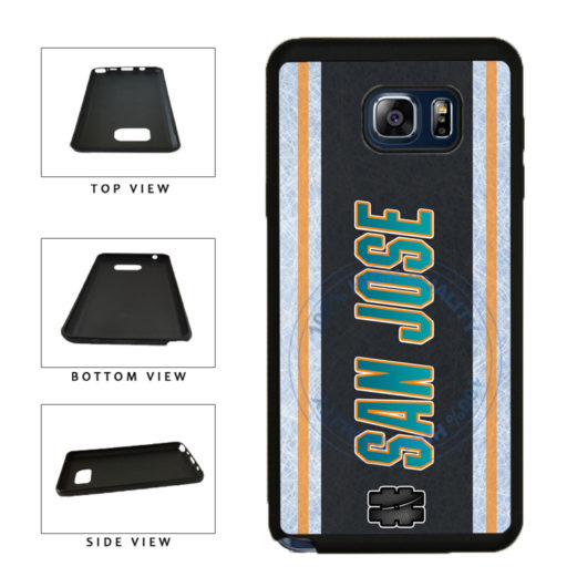 Hockey Team Hashtag San Jose #SanJose TPU RUBBER SILICONE Phone Case Back Cover For Samsung Galaxy Note V 5 N920 includes BleuReign(TM) Cloth and Warranty Label