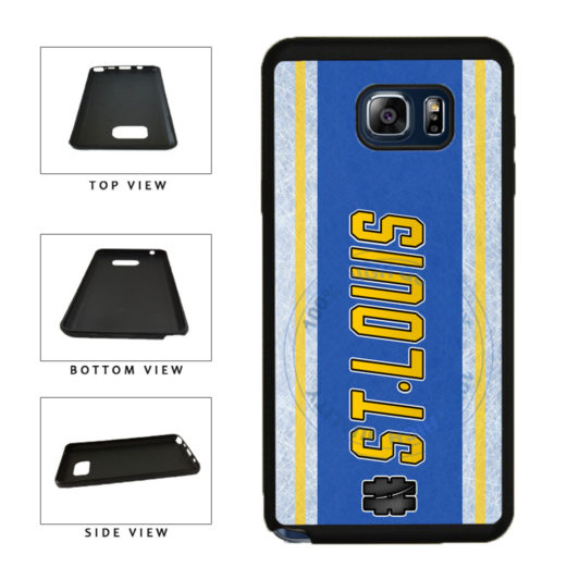 Hockey Team Hashtag St Louis #StLouis TPU RUBBER SILICONE Phone Case Back Cover For Samsung Galaxy Note V 5 N920 includes BleuReign(TM) Cloth and Warranty Label