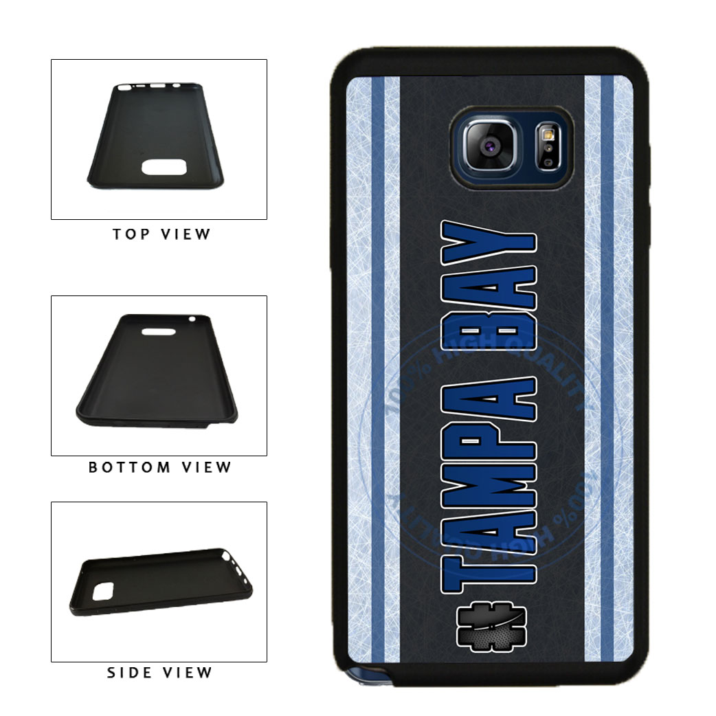 Hockey Team Hashtag Tampa Bay #TampaBay TPU RUBBER SILICONE Phone Case Back Cover For Samsung Galaxy Note V 5 N920 includes BleuReign(TM) Cloth and Warranty Label