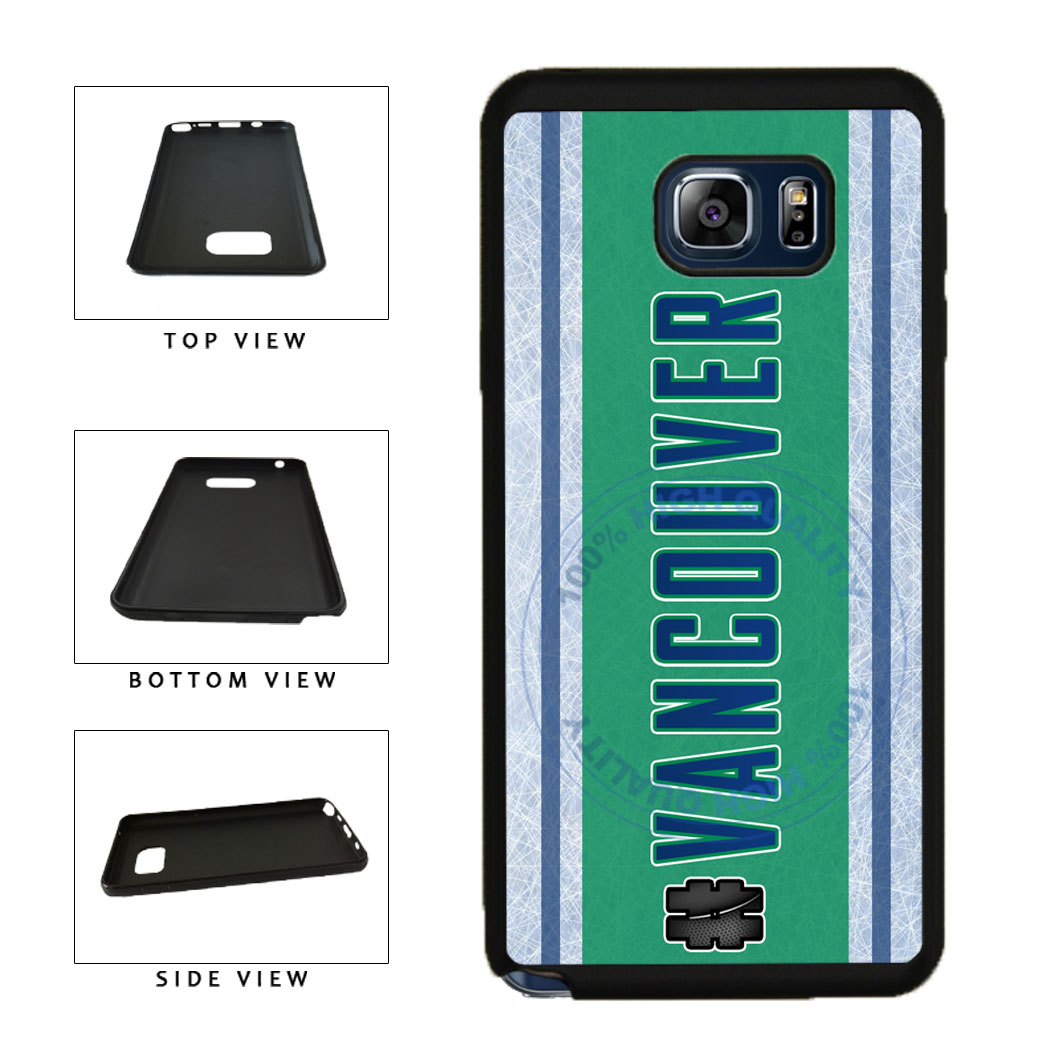 Hockey Team Hashtag Vancouver #Vancouver TPU RUBBER SILICONE Phone Case Back Cover For Samsung Galaxy Note V 5 N920 includes BleuReign(TM) Cloth and Warranty Label