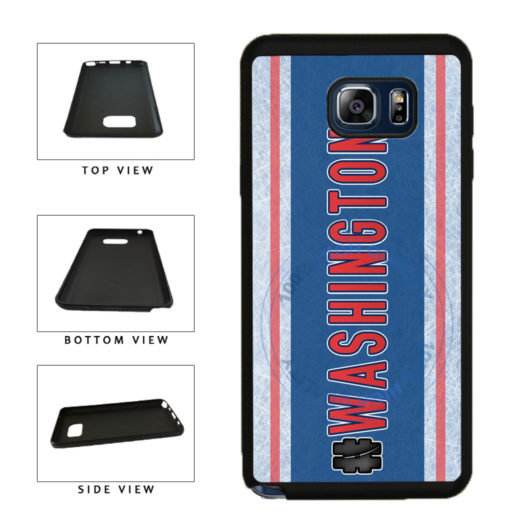 Hockey Team Hashtag Washington #Washington TPU RUBBER SILICONE Phone Case Back Cover For Samsung Galaxy Note V 5 N920 includes BleuReign(TM) Cloth and Warranty Label