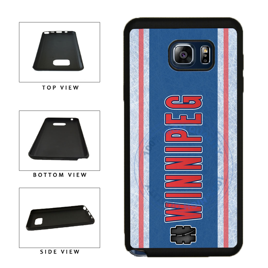 Hockey Team Hashtag Winnipeg #Winnipeg TPU RUBBER SILICONE Phone Case Back Cover For Samsung Galaxy Note V 5 N920 includes BleuReign(TM) Cloth and Warranty Label