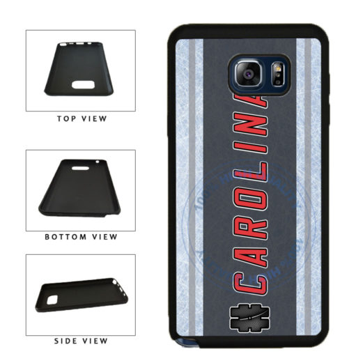 Hockey Team Hashtag Carolina #Carolina TPU RUBBER SILICONE Phone Case Back Cover For Samsung Galaxy Note V 5 N920 includes BleuReign(TM) Cloth and Warranty Label