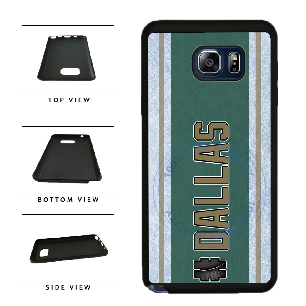 Hockey Team Hashtag Dallas #Dallas TPU RUBBER SILICONE Phone Case Back Cover For Samsung Galaxy Note V 5 N920 includes BleuReign(TM) Cloth and Warranty Label