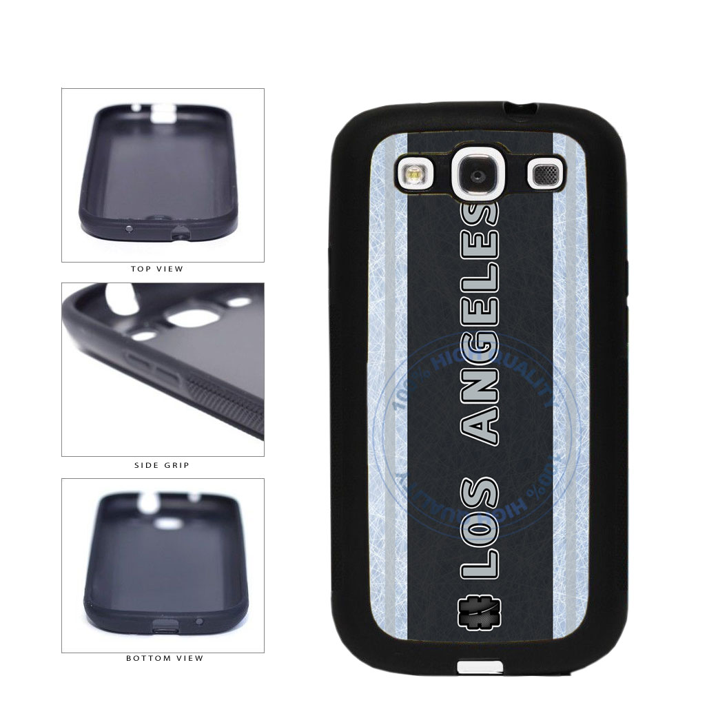 Hockey Team Hashtag Los Angeles #LosAngeles TPU Rubber SILICONE Phone Case Back Cover For Samsung Galaxy S3 I9300 includes BleuReign(TM) Cloth and Warranty Label