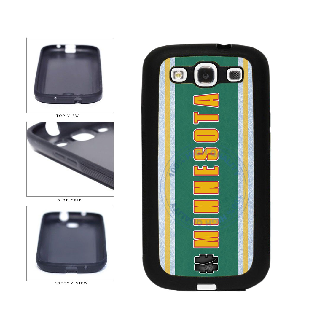 Hockey Team Hashtag Minnesota #Minnesota TPU Rubber SILICONE Phone Case Back Cover For Samsung Galaxy S3 I9300 includes BleuReign(TM) Cloth and Warranty Label