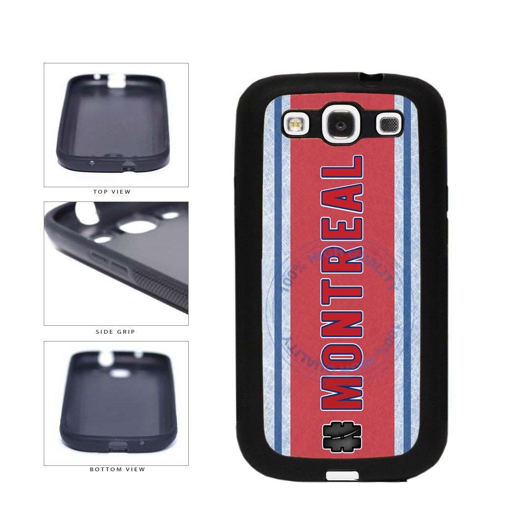 Hockey Team Hashtag Montreal #Montreal TPU Rubber SILICONE Phone Case Back Cover For Samsung Galaxy S3 I9300 includes BleuReign(TM) Cloth and Warranty Label