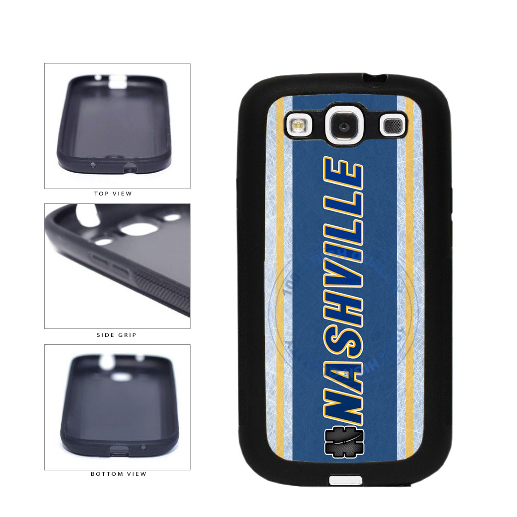 Hockey Team Hashtag Nashville #Nashville TPU Rubber SILICONE Phone Case Back Cover For Samsung Galaxy S3 I9300 includes BleuReign(TM) Cloth and Warranty Label
