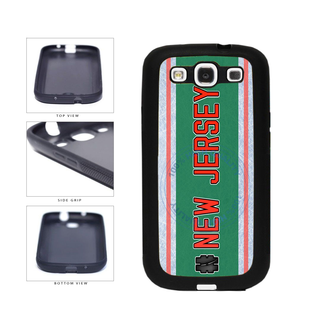 Hockey Team Hashtag New Jersey #NewJersey TPU Rubber SILICONE Phone Case Back Cover For Samsung Galaxy S3 I9300 includes BleuReign(TM) Cloth and Warranty Label