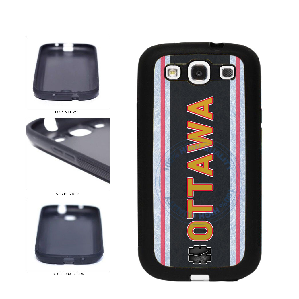 Hockey Team Hashtag Ottawa #Ottawa TPU Rubber SILICONE Phone Case Back Cover For Samsung Galaxy S3 I9300 includes BleuReign(TM) Cloth and Warranty Label