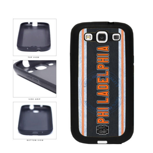 Hockey Team Hashtag Philadelphia #Philadelphia TPU Rubber SILICONE Phone Case Back Cover For Samsung Galaxy S3 I9300 includes BleuReign(TM) Cloth and Warranty Label