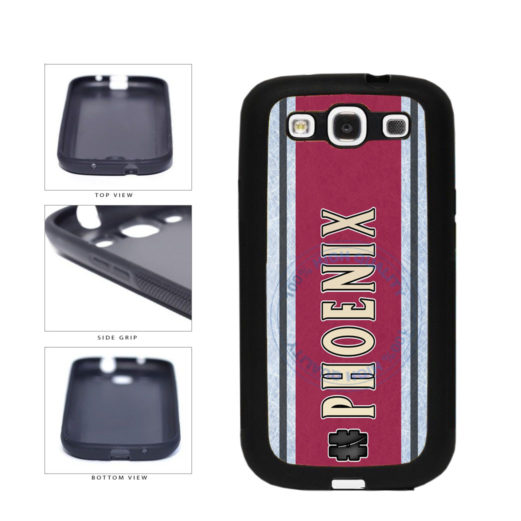 Hockey Team Hashtag Phoenix #Phoenix TPU Rubber SILICONE Phone Case Back Cover For Samsung Galaxy S3 I9300 includes BleuReign(TM) Cloth and Warranty Label