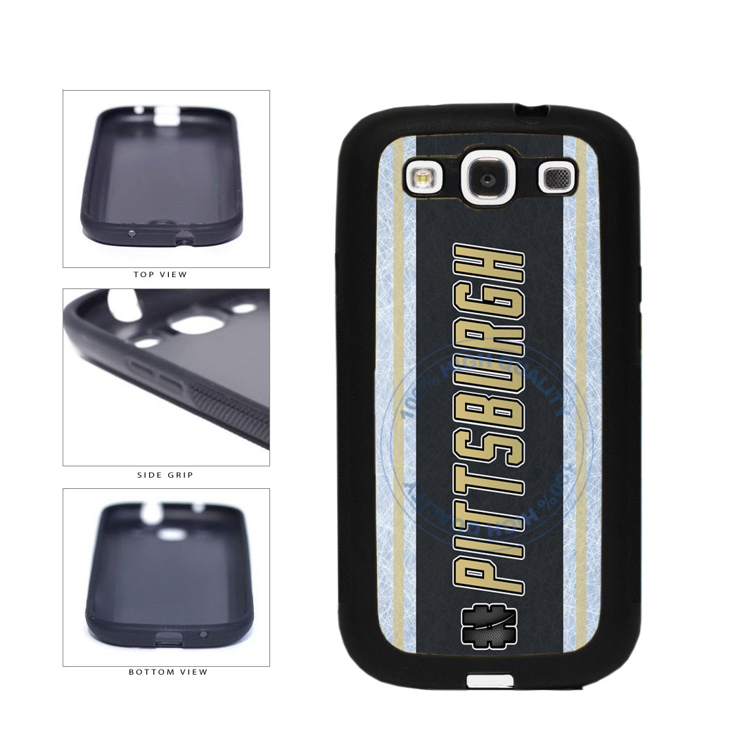Hockey Team Hashtag Pittsburgh #Pittsburgh TPU Rubber SILICONE Phone Case Back Cover For Samsung Galaxy S3 I9300 includes BleuReign(TM) Cloth and Warranty Label