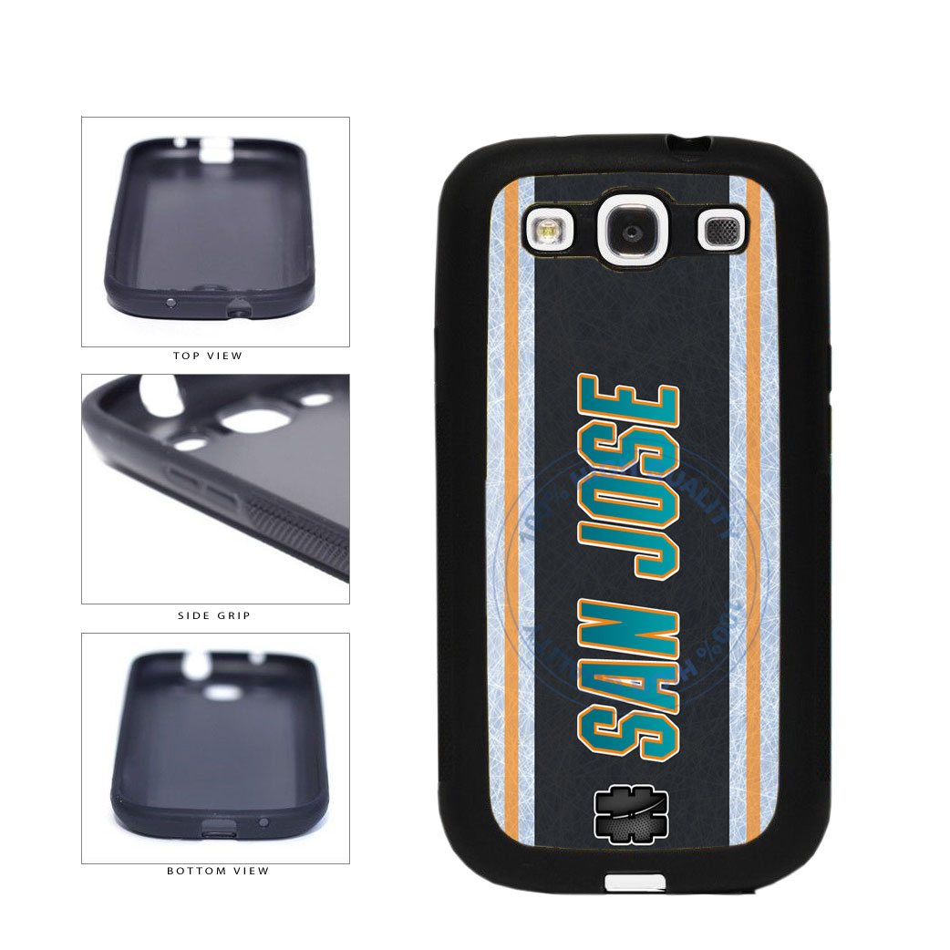 Hockey Team Hashtag San Jose #SanJose TPU Rubber SILICONE Phone Case Back Cover For Samsung Galaxy S3 I9300 includes BleuReign(TM) Cloth and Warranty Label