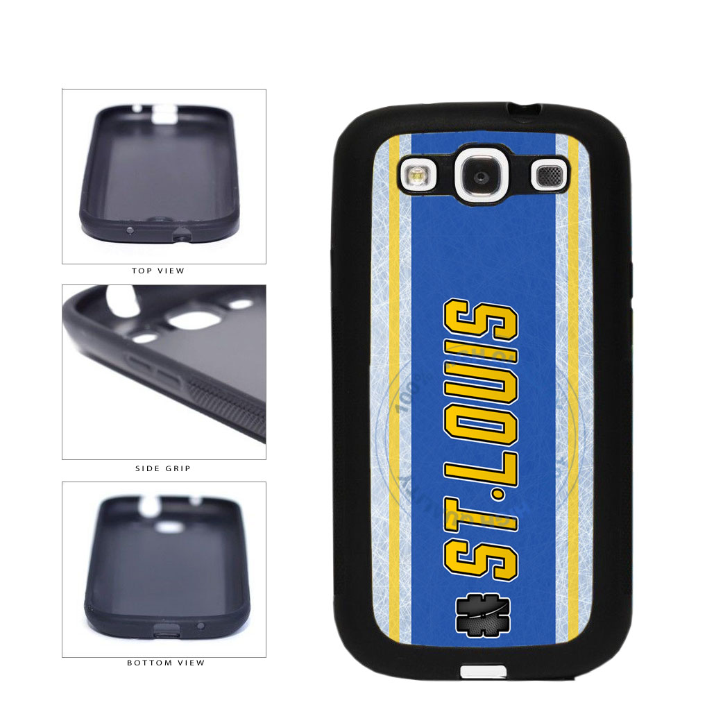 Hockey Team Hashtag St Louis #StLouis TPU Rubber SILICONE Phone Case Back Cover For Samsung Galaxy S3 I9300 includes BleuReign(TM) Cloth and Warranty Label