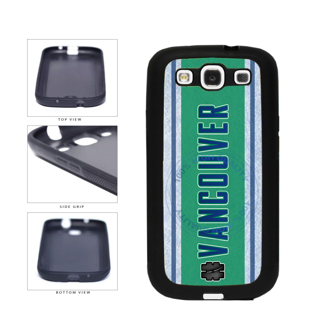 Hockey Team Hashtag Vancouver #Vancouver TPU Rubber SILICONE Phone Case Back Cover For Samsung Galaxy S3 I9300 includes BleuReign(TM) Cloth and Warranty Label
