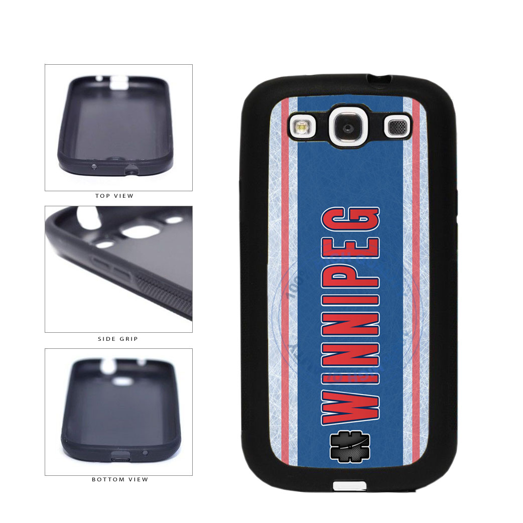 Hockey Team Hashtag Winnipeg #Winnipeg TPU Rubber SILICONE Phone Case Back Cover For Samsung Galaxy S3 I9300 includes BleuReign(TM) Cloth and Warranty Label