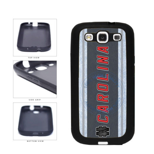 Hockey Team Hashtag Carolina #Carolina TPU Rubber SILICONE Phone Case Back Cover For Samsung Galaxy S3 I9300 includes BleuReign(TM) Cloth and Warranty Label