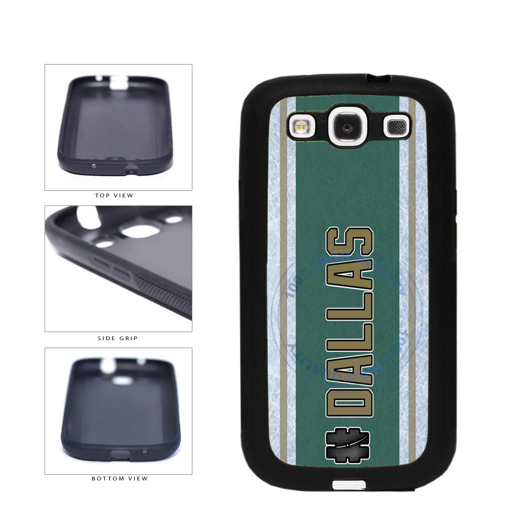 Hockey Team Hashtag Dallas #Dallas TPU Rubber SILICONE Phone Case Back Cover For Samsung Galaxy S3 I9300 includes BleuReign(TM) Cloth and Warranty Label