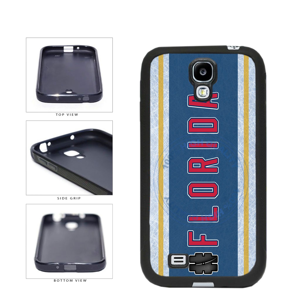 Hockey Team Hashtag Florida #Florida TPU Rubber SILICONE Phone Case Back Cover For Samsung Galaxy S4 I9500 includes BleuReign(TM) Cloth and Warranty Label