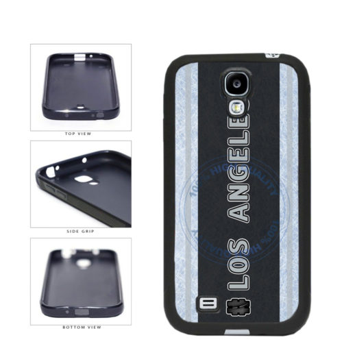 Hockey Team Hashtag Los Angeles #LosAngeles TPU Rubber SILICONE Phone Case Back Cover For Samsung Galaxy S4 I9500 includes BleuReign(TM) Cloth and Warranty Label