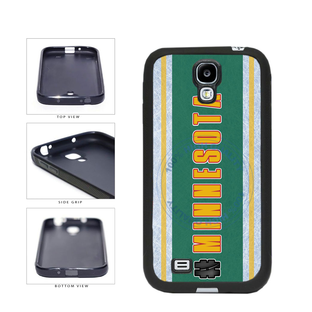 Hockey Team Hashtag Minnesota #Minnesota TPU Rubber SILICONE Phone Case Back Cover For Samsung Galaxy S4 I9500 includes BleuReign(TM) Cloth and Warranty Label