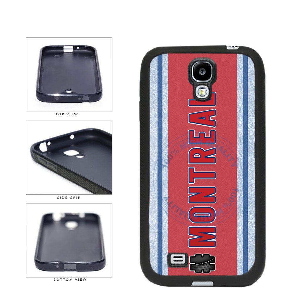 Hockey Team Hashtag Montreal #Montreal TPU Rubber SILICONE Phone Case Back Cover For Samsung Galaxy S4 I9500 includes BleuReign(TM) Cloth and Warranty Label
