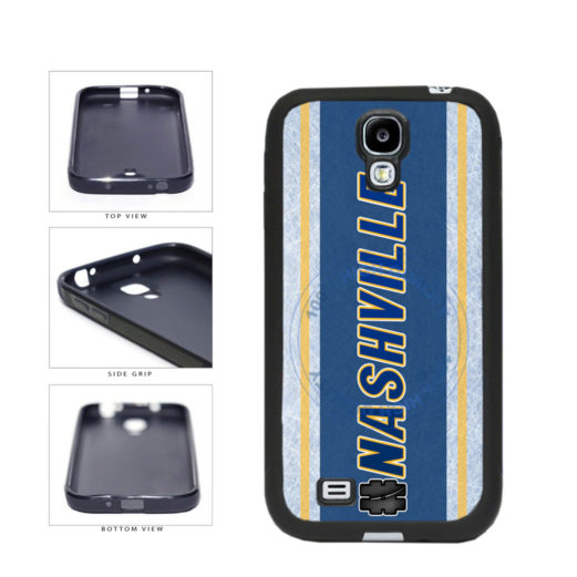 Hockey Team Hashtag Nashville #Nashville TPU Rubber SILICONE Phone Case Back Cover For Samsung Galaxy S4 I9500 includes BleuReign(TM) Cloth and Warranty Label