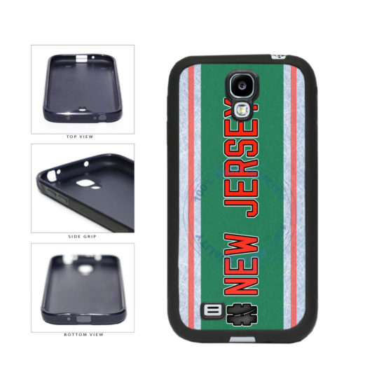 Hockey Team Hashtag New Jersey #NewJersey TPU Rubber SILICONE Phone Case Back Cover For Samsung Galaxy S4 I9500 includes BleuReign(TM) Cloth and Warranty Label