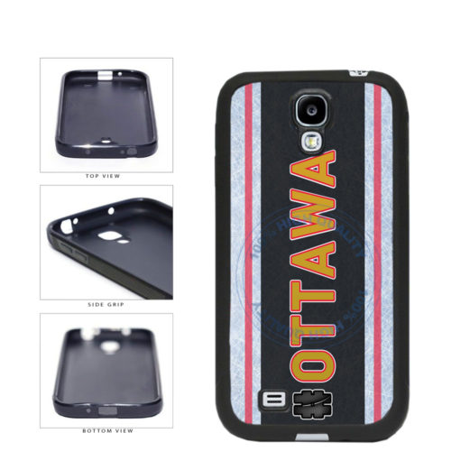 Hockey Team Hashtag Ottawa #Ottawa TPU Rubber SILICONE Phone Case Back Cover For Samsung Galaxy S4 I9500 includes BleuReign(TM) Cloth and Warranty Label